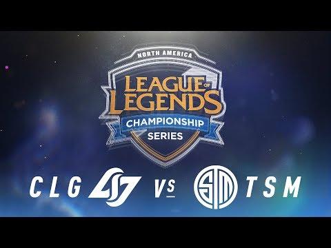 CLG vs. TSM - Week 9 Day 2   NA LCS Spring Split   Counter Logic Gaming vs. TSM (2018)