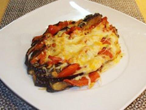 Berenjenas al horno con tomate a los 4 quesos by Fran
