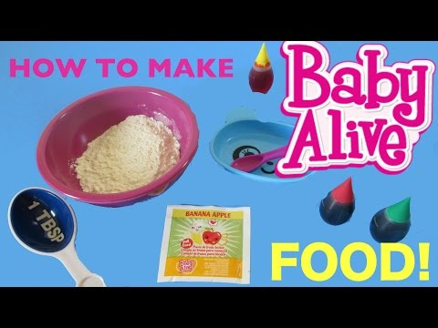 BABY ALIVE How To Make BABY ALIVE FOOD