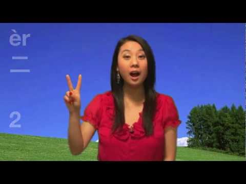 Learn numbers from one to ten (1 to 10) in Mandarin Chinese 从1数到10