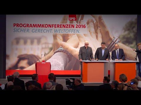 Programmkonferenz Europa: Sigmar Gabriel, Frank-Walter Steinmeier, Martin Schulz || #spdprogramm