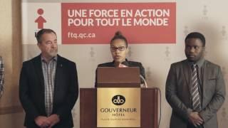 La FTQ, la CJPLQ et Force Jeunesse demandent la fin des clauses de disparité de traitement