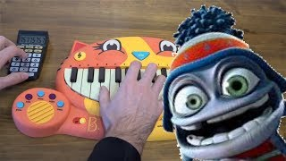 CRAZY FROG - AXEL F BUT I PLAYED IT ON A CAT PIANO AND A DRUM CALCULATOR