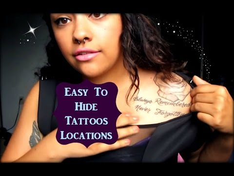 Tattoo placements that are easy to hide youtube for Good places to get hidden tattoos
