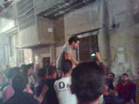 23-June-2009.Dabke inside the Palestinian refugee camp Yarmouk in Damascus, Syria