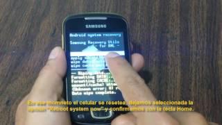Hard Reset celular Samsung Galaxy mini GT-S5570