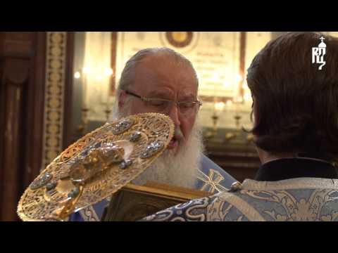 В канун праздника Успения Патриарх Кирилл совершил всенощное бдение