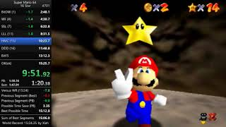 [WR] Super Mario 64 - 16 Star speedrun in 15:17.68