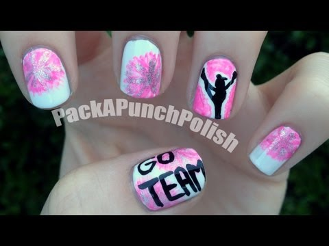 Cheerleading Nail Art Tutorial