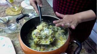 Delicious Chicken Spinach Biryani