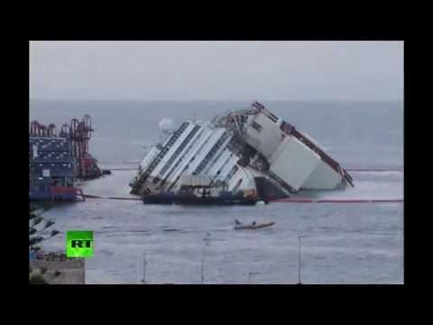 El enderezamiento de Costa Concordia en 2 minutos