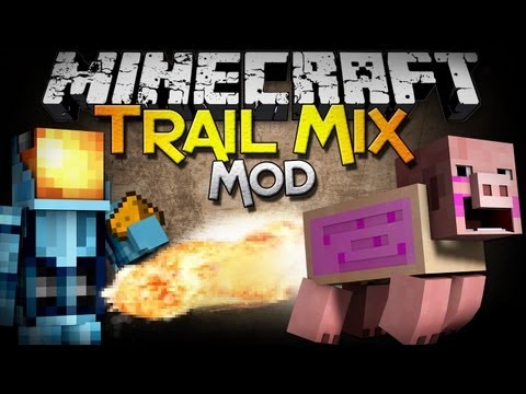 Minecraft Mod Showcase: Trail Mix Mod - Ride, Launch, and EXPLODE Pigs!