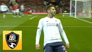 Adam Lallana nets late equalizer for Liverpool against Man United | Premier League | NBC Sports
