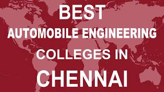 Best Automobile Engineering Colleges in Chennai