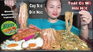🇯🇵Ăn Thử Mì Wasabi Mayonnaise Yakisoba Cay Sọc Tới Nóc, Kèm Xúc Xích,Thịt Xông Khói&Trứng 🥵 #295