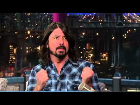 Dave Grohl on Letterman