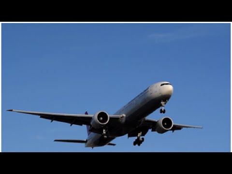 GOLDEN HOUR Turkish Airlines Boeing 777-300ER TC-JJO Landing at Los Angeles International Airport