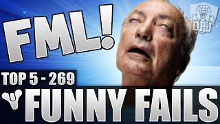 Destiny: Amazing Grenade Fail! Funny Top 5 Fails Of The Week / Episode 269