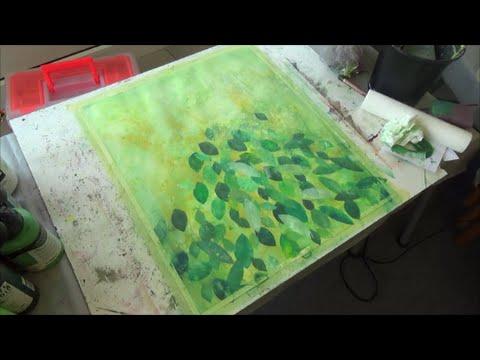 Leaves Painting Painting Tree Leaves in