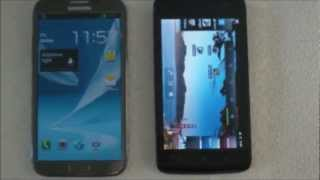 Samsung Galaxy Note 2 vs Dell Streak 5 Tablet Smartphone Comparison