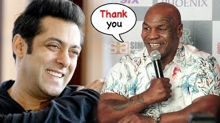 Mike Tyson Thanks Salman Khan For Sending his Personal Bodyguard SHERA For Protection