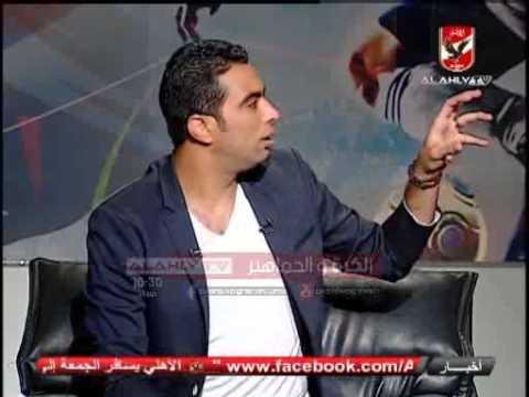 لحظه اختيار احمد الشيخ للفائزين بتى شيرتات الكرة والجماهير