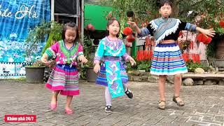 Cô bé nhảy cực bốc tại thung lũng hoa   Bắc Hà - Lào Cai   kp247