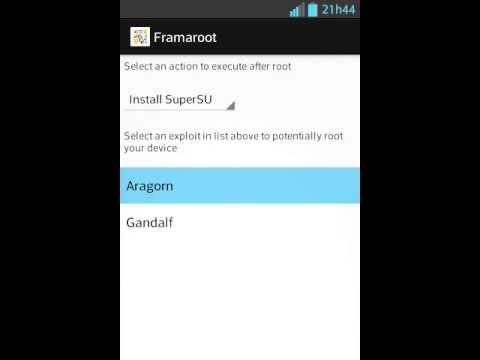 Como fazer root no Optimus l5 com o aplicativo Framaroot [Root e Unroot]