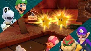 Super Mario Party Partner Party #267 Gold Rush Mine Dry Bones & Luigi vs Waluigi & Bowser