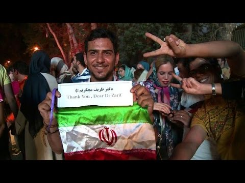 Iranians take to Tehran streets to hail nuclear deal