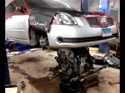 2004 Nissan Maxima Se Engine Swap Youtube