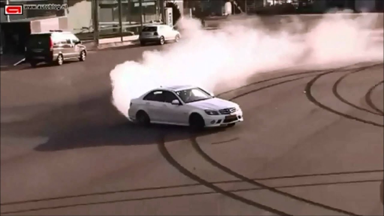 Drifting With The Mercedes Benz C63 Amg Youtube
