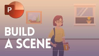 Build a 2D scene for an explainer Video in PowerPoint ✔
