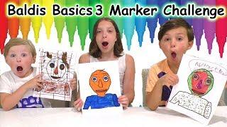 3 Marker Challenge Baldi's Basics Game | DavidsTV