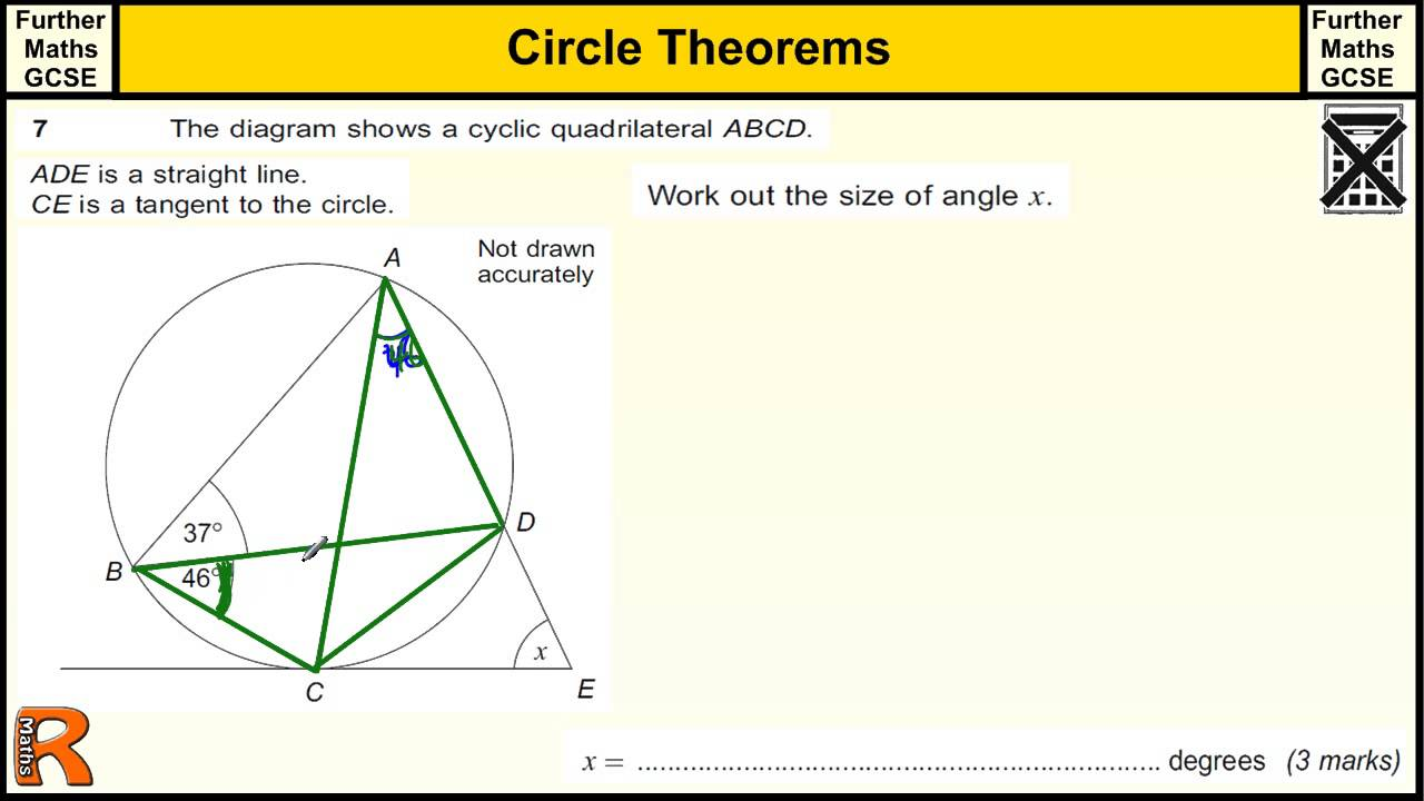 circle theorems gcse further maths revision exam paper practice help youtube. Black Bedroom Furniture Sets. Home Design Ideas