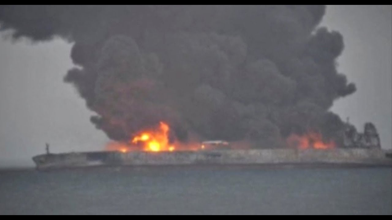 Burning tanker off China coast may explode and sink