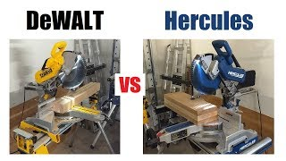 Hercules vs DeWALT Miter Saw Review (Harbor Freight Bringing the HEAT!)