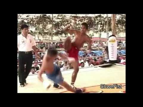 Myanmar Lethwei, KO fight