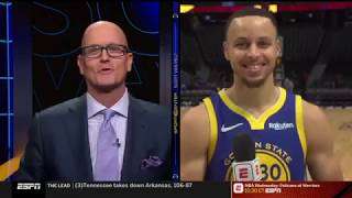 Stephen Curry Reacts To Golden State Warriors Beat Denver Nuggets 142-111 | 15/01/2019
