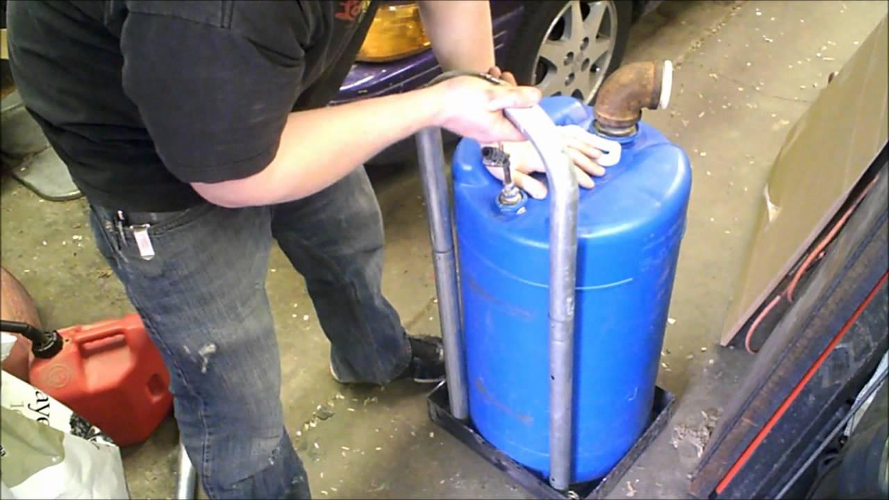 Home Made Fuel Transfer Tank Gasoline Petrol Youtube