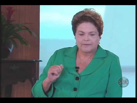 Presidente Dilma Rousseff concede entrevista exclusiva ao SBT - bloco 01