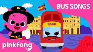 Spain Tour Bus | ¡Hola! España | Car Songs | Pinkfong Songs for Children