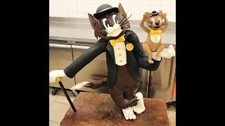 "🍫🐱🐭 Sculpture en chocolat de ""Tom et Jerry"" 🐭🐱🍫"