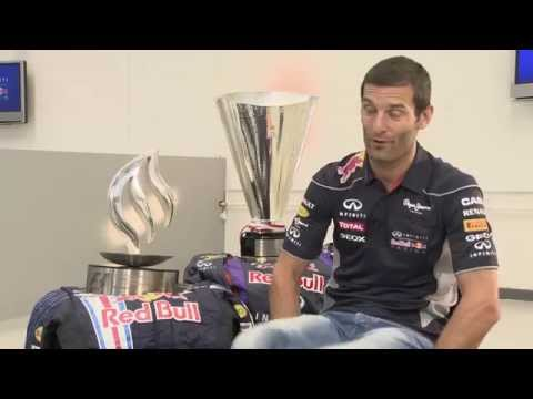 Mark Webber celebrates 200th Formula One race