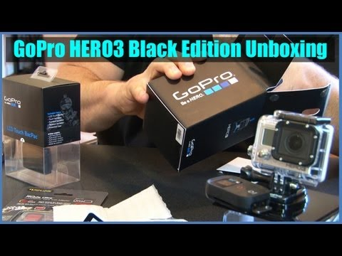 Unboxing New GoPro Hero3 Black Edition With Extras - Actual Footage Samples