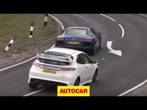Audi R8 V10 v Honda Civic Type R Mugen - autocar.co.uk