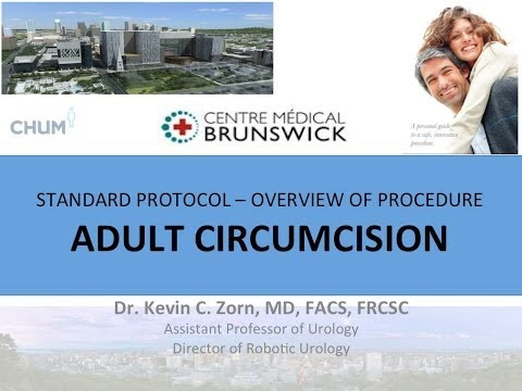 Circumcision - Adult Male Educational Video - English 2013   Dr. Kevin Zorn video