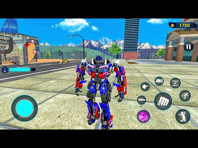 Play this video Optimus Prime Multiple Transformation Jet Robot Car Game 2020 - Android Gameplay
