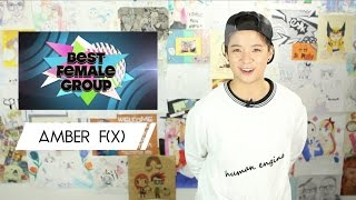 Nominees for the Best Female Group in Kpop feat Amber