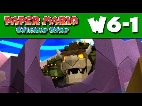 Paper Mario Sticker Star - World 6-1 - Gate Cliff W6-1 (Nintendo 3DS Gameplay Walkthrough)
